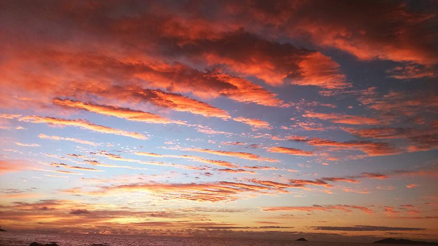 Sunset Anse Lazio